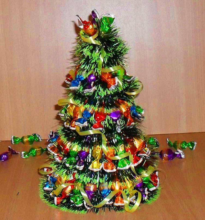 Фото елки из конфет своими руками