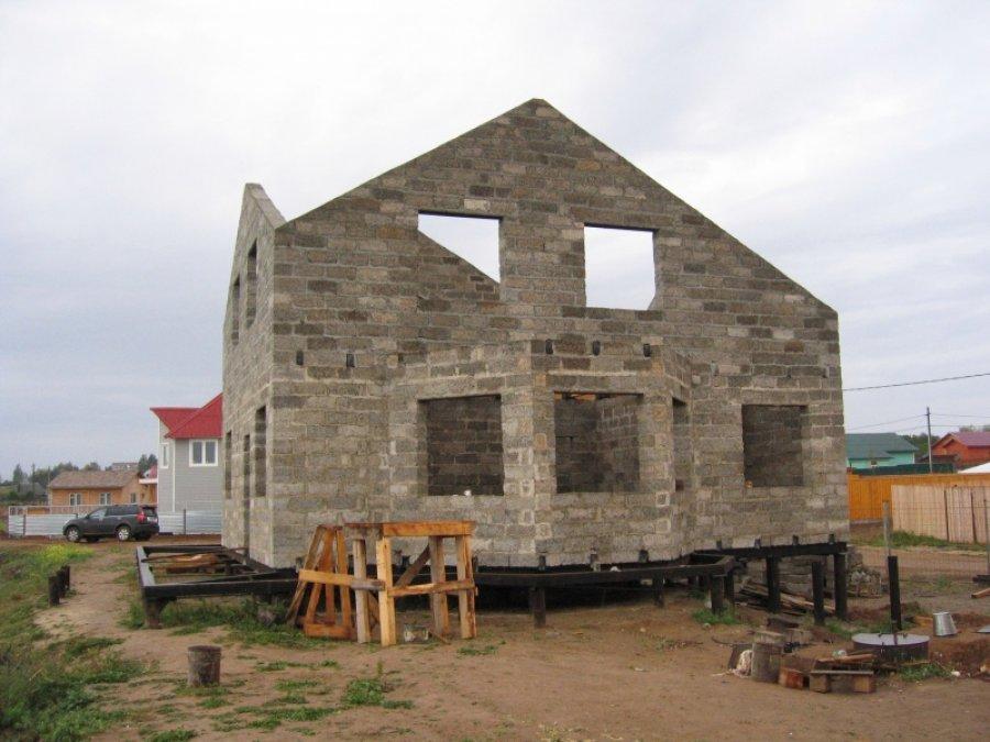 Дома на винтовых сваях фото